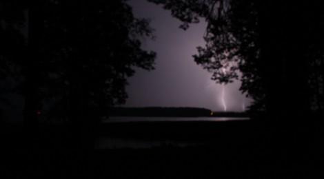 Burza nad jeziorem Gołdapiwo