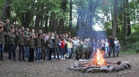 20.07.2014 - Harcerskie ognisko w Zgrupowaniu Obozów