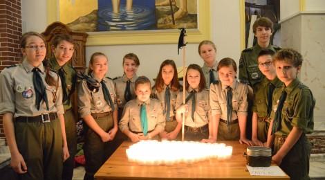 Betlejemskie Światło Pokoju 2014 w Józefowie
